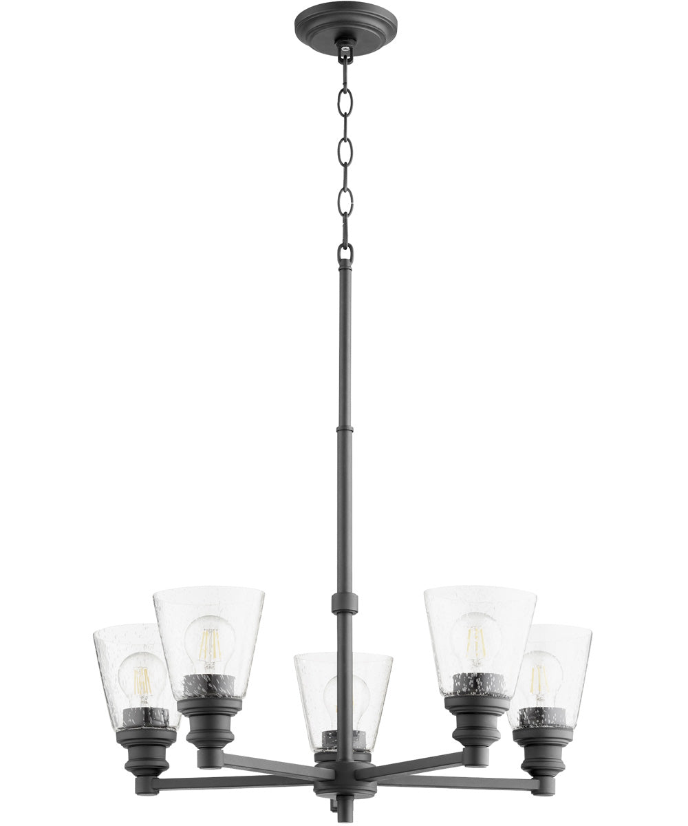 Dunbar 5-light Chandelier Noir