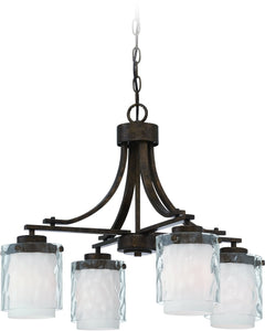 0-006825>Kenswick 4-Light Down Chandelier Peruvian Bronze