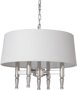 0-009620>Ella 4-Light Chandelier Polished Nickel