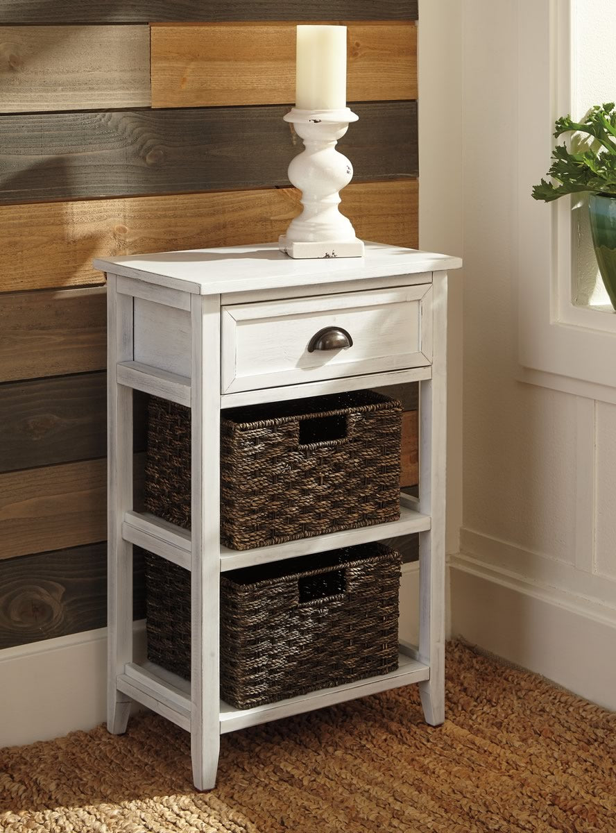 "28""H Oslember Accent Table White"