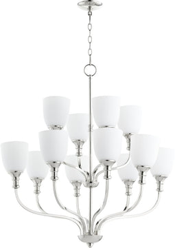 "34""W Richmond 12-light Chandelier Polished Nickel"