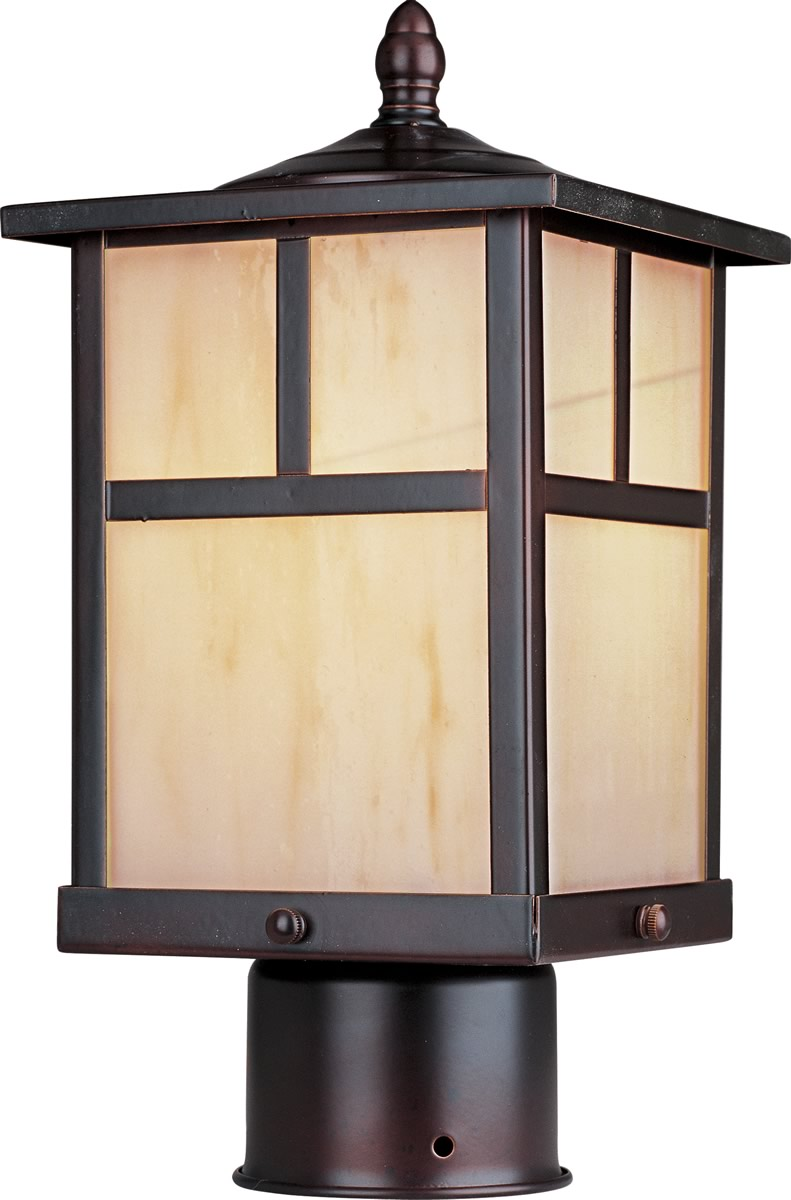 "12""H Coldwater LED 1-Light Outdoor Pole/Post Lantern Burnished"