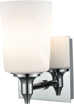 "5""W Alton Road 1-Light Vanity Chrome/Opal Glass"
