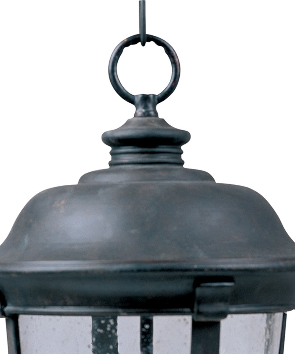 "12""w Dover Vivex 3-Light Outdoor Hanging Lantern Bronze"