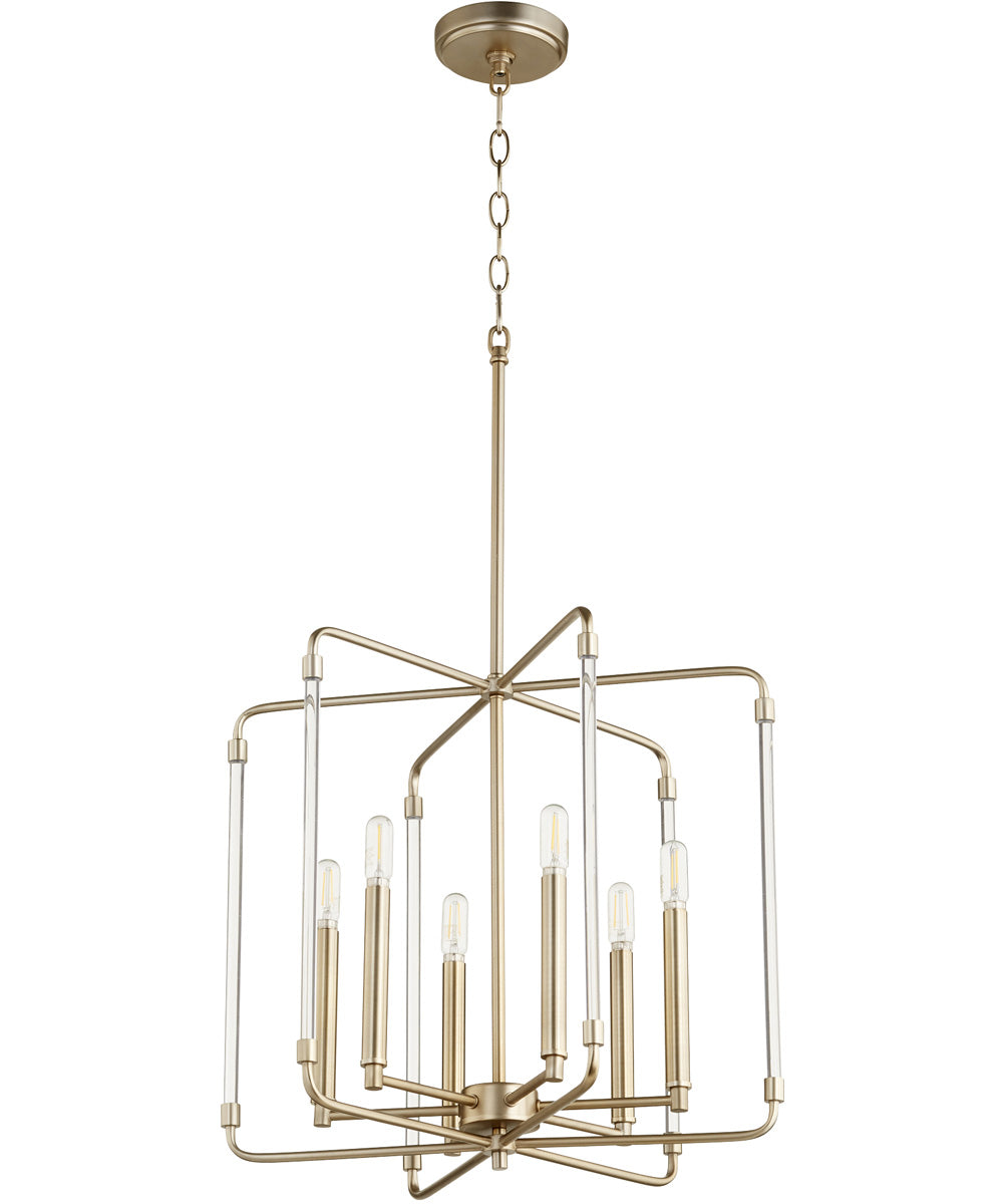 "20""W Optic 6-light Pendant Aged Brass"