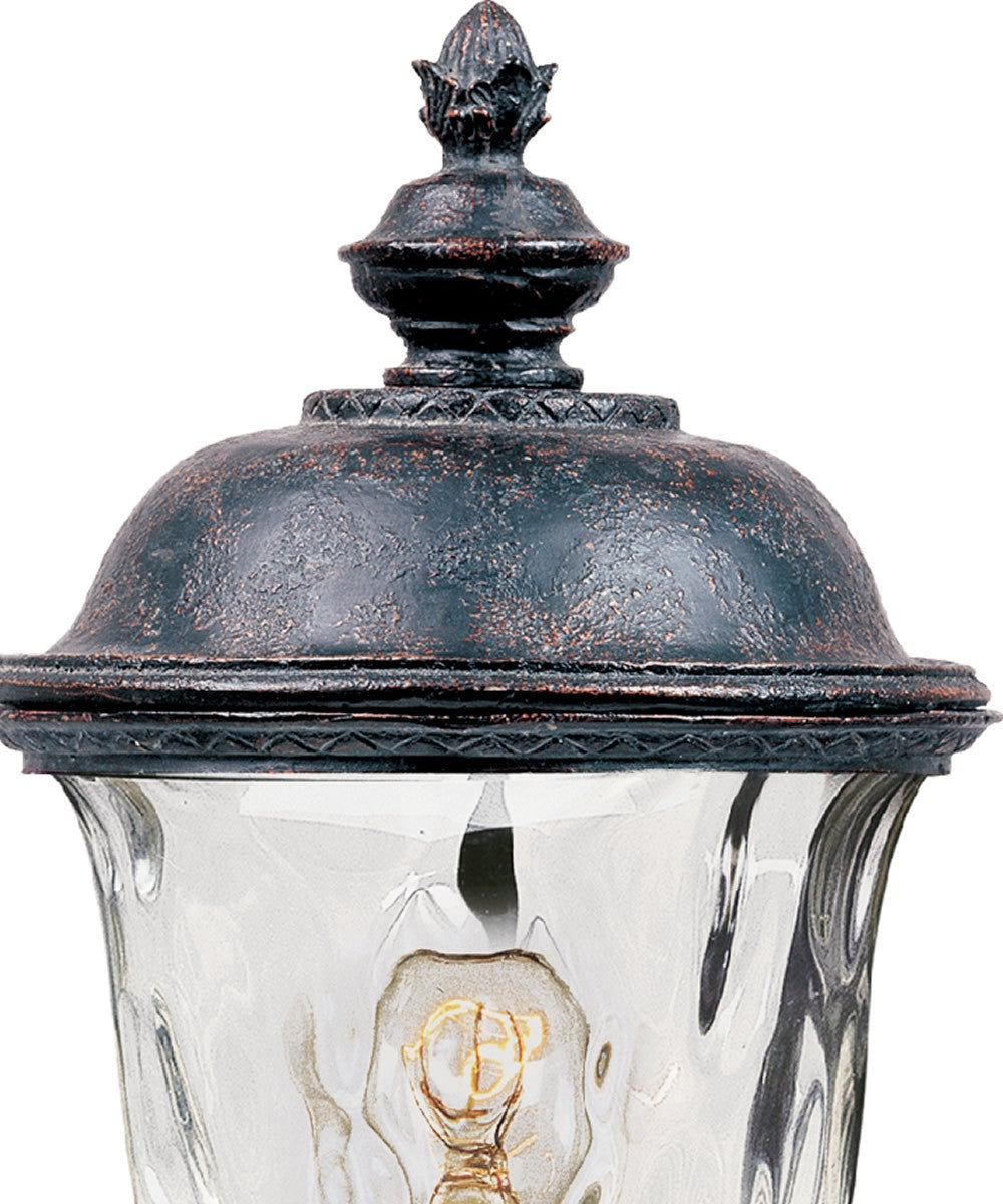 "20""h Carriage House Vivex 1-Light Outdoor Pole/Post Mount Oriental Bronze"