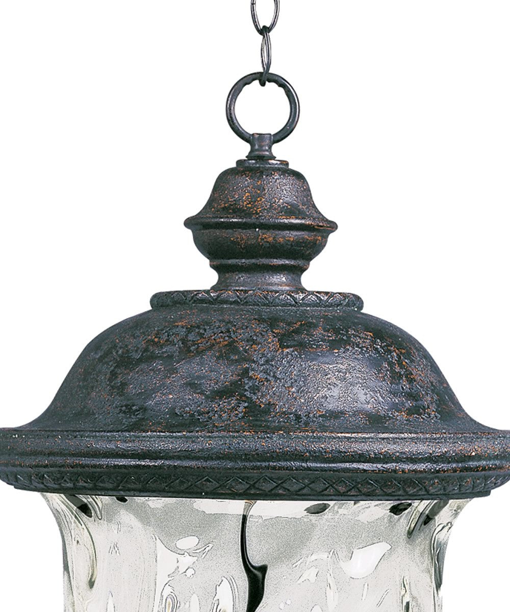 "14""w Carriage House Vivex 3-Light Outdoor Hanging Lantern Oriental Bronze"