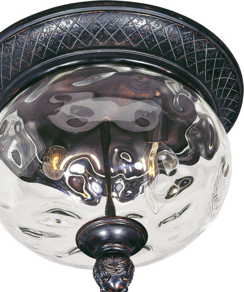 "12""w Carriage House Vivex 2-Light Outdoor Ceiling Mount Oriental Bronze"