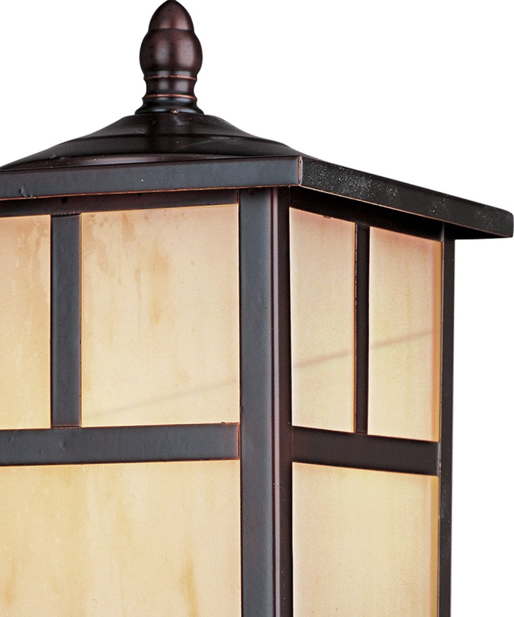 "12""H Coldwater 1-Light Outdoor Pole/Post Lantern Burnished"