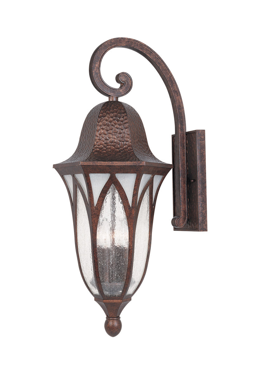 "28""h Berkshire 4-Light Wall Sconce Burnished Antique Copper"
