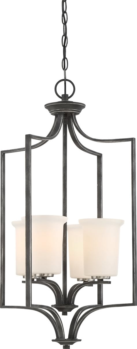 "17""W Chester 4-Light Pendant Iron Black"