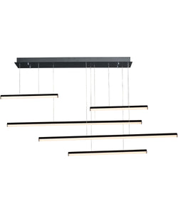 "61""W Hover LED 5-Light Pendant Black"