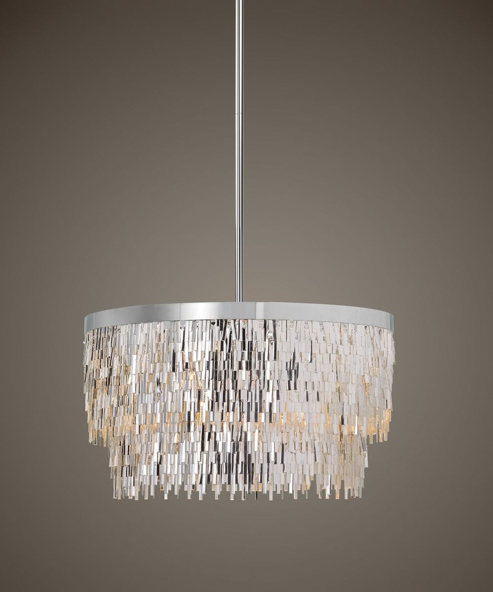 "23""W Millie 6 Light Chrome Pendant"