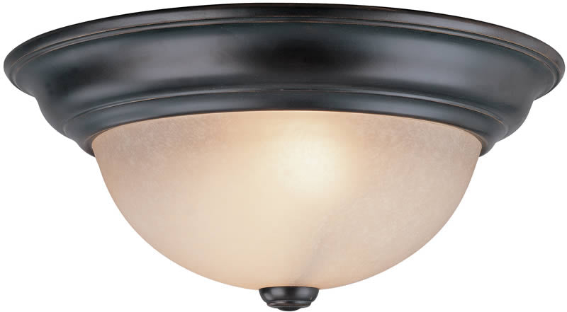 "OPEN BOX 14""w Fireside 2-Light Flushmount Bolivian"