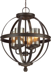 Sfera 4-Light Single-Tier Chandelier Autumn Bronze