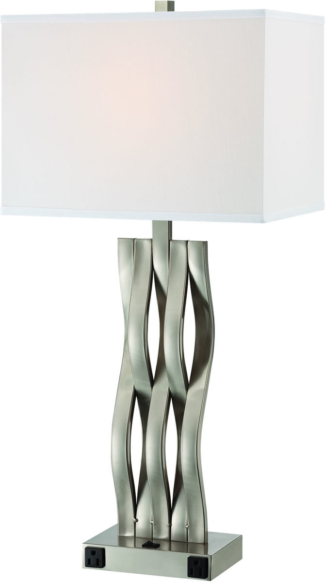 "31""H Hamo II 1-Light Table Lamp Polished Silver"