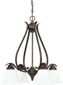 0-012301>McKinney 4-Light Down Chandelier Burleson Bronze