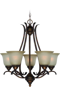 0-006640>McKinney 5-Light Chandelier Burleson Bronze