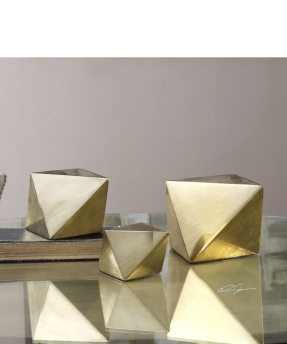 "5""H Rhombus Champagne Accents Set of 3"