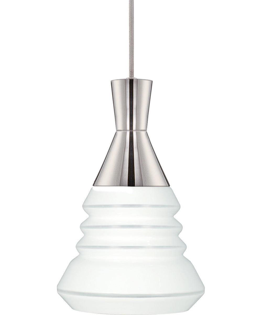 "9""W Vortex 1-Light Pendant Polished Nickel"