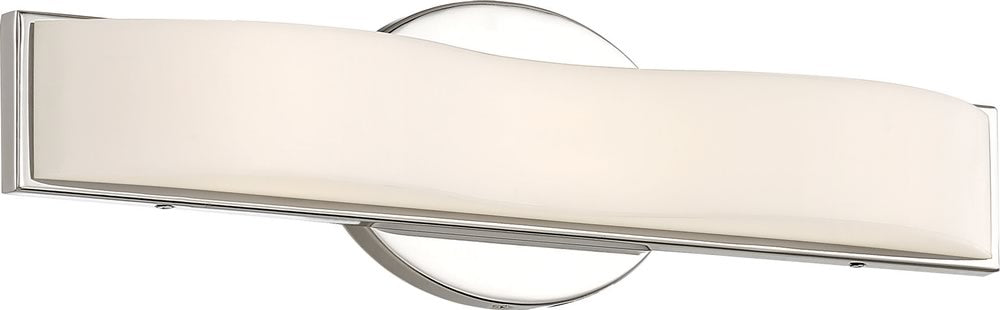 "16""W Surf 1-Light Vanity & Wall Polished Nickel"