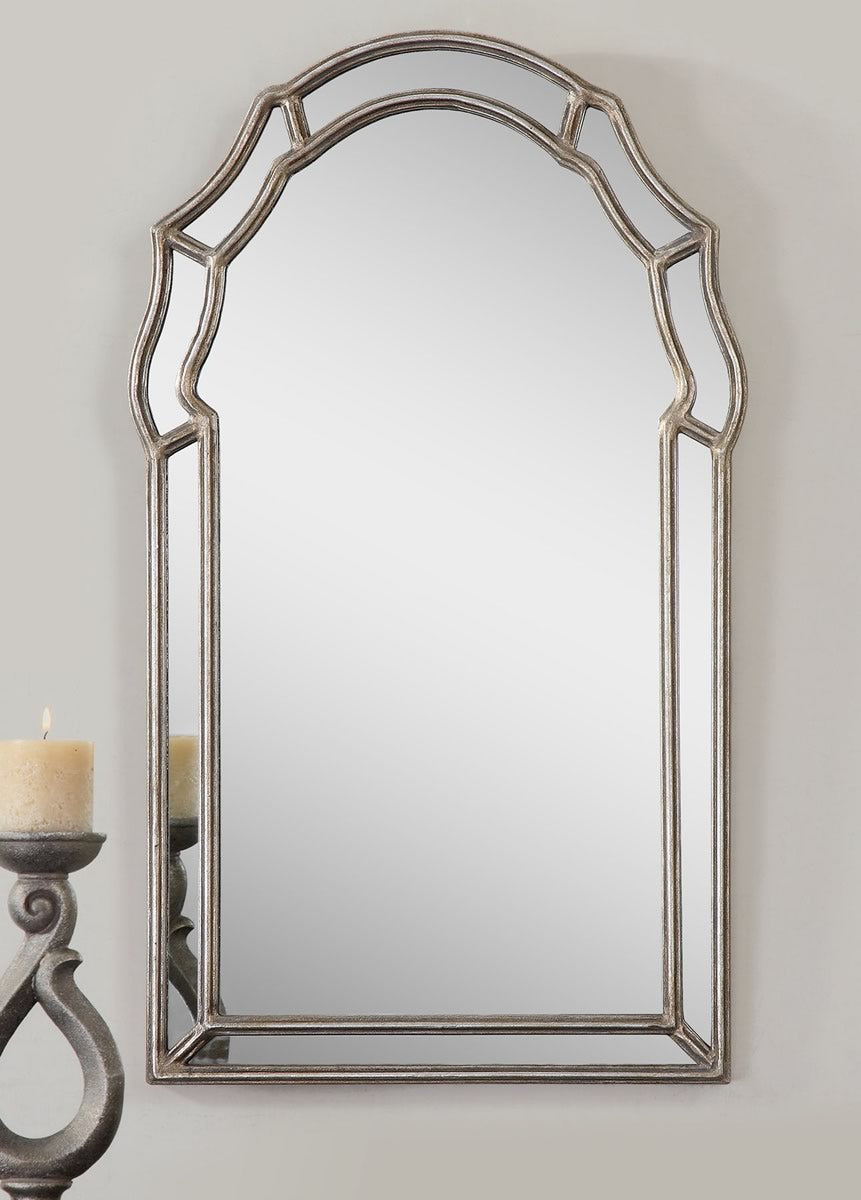"35""H x 21""W Petrizzi Decorative Arched Mirror"