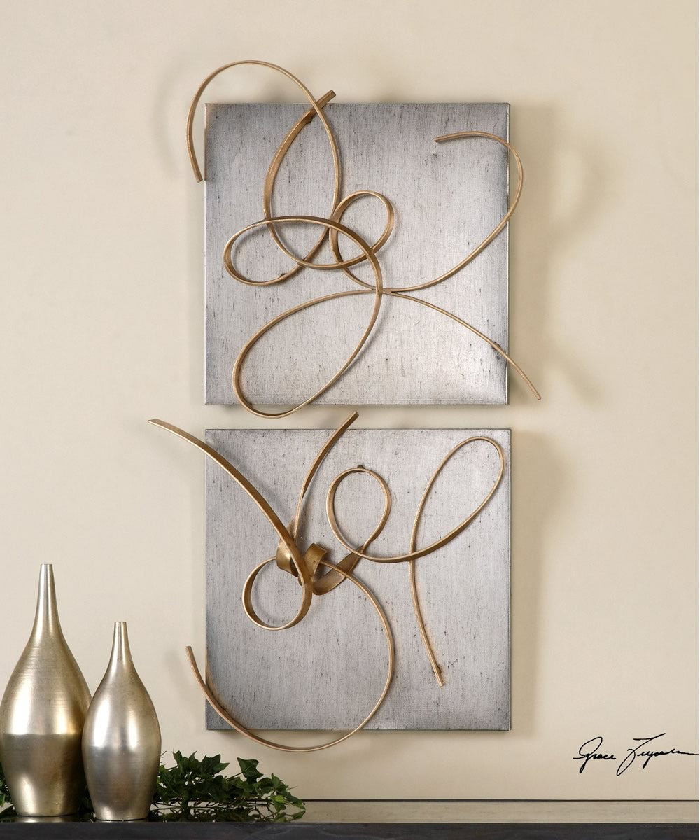 "24""H x 22""W Harmony Metal Wall Art Set of 2"