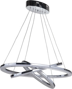 0-013925>Anello 3-Light LED Pendant Light Chrome