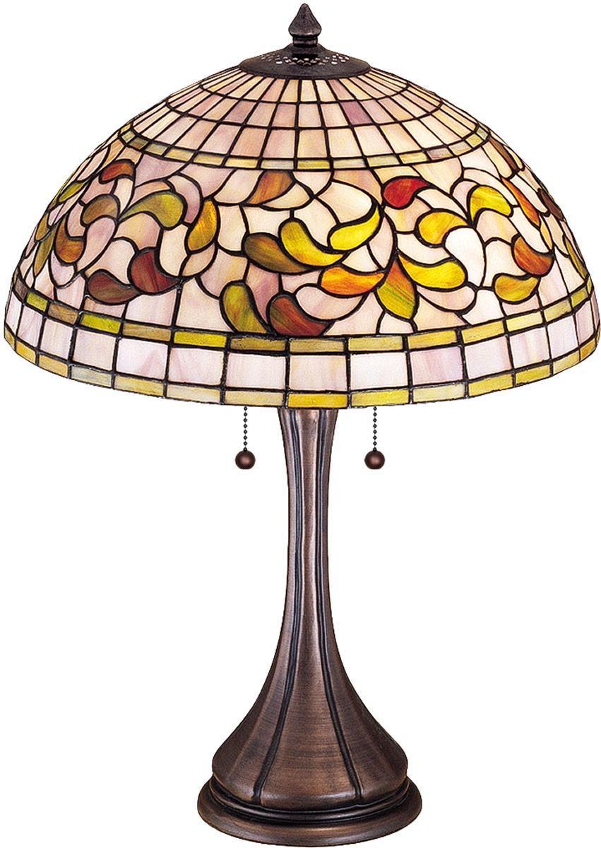 "23""H Tiffany Turning Leaf Table Lamp"
