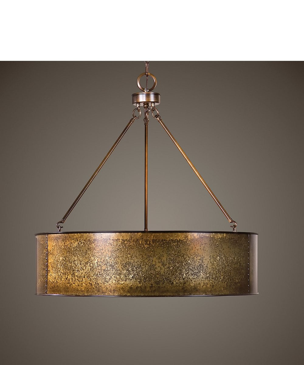 "30""W Wolcott 5 Light Golden Pendant"
