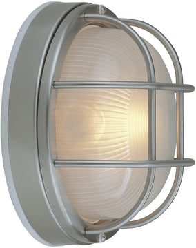 "8""W Bulkheads 1-Light Outdoor Flush Stainless Steel"