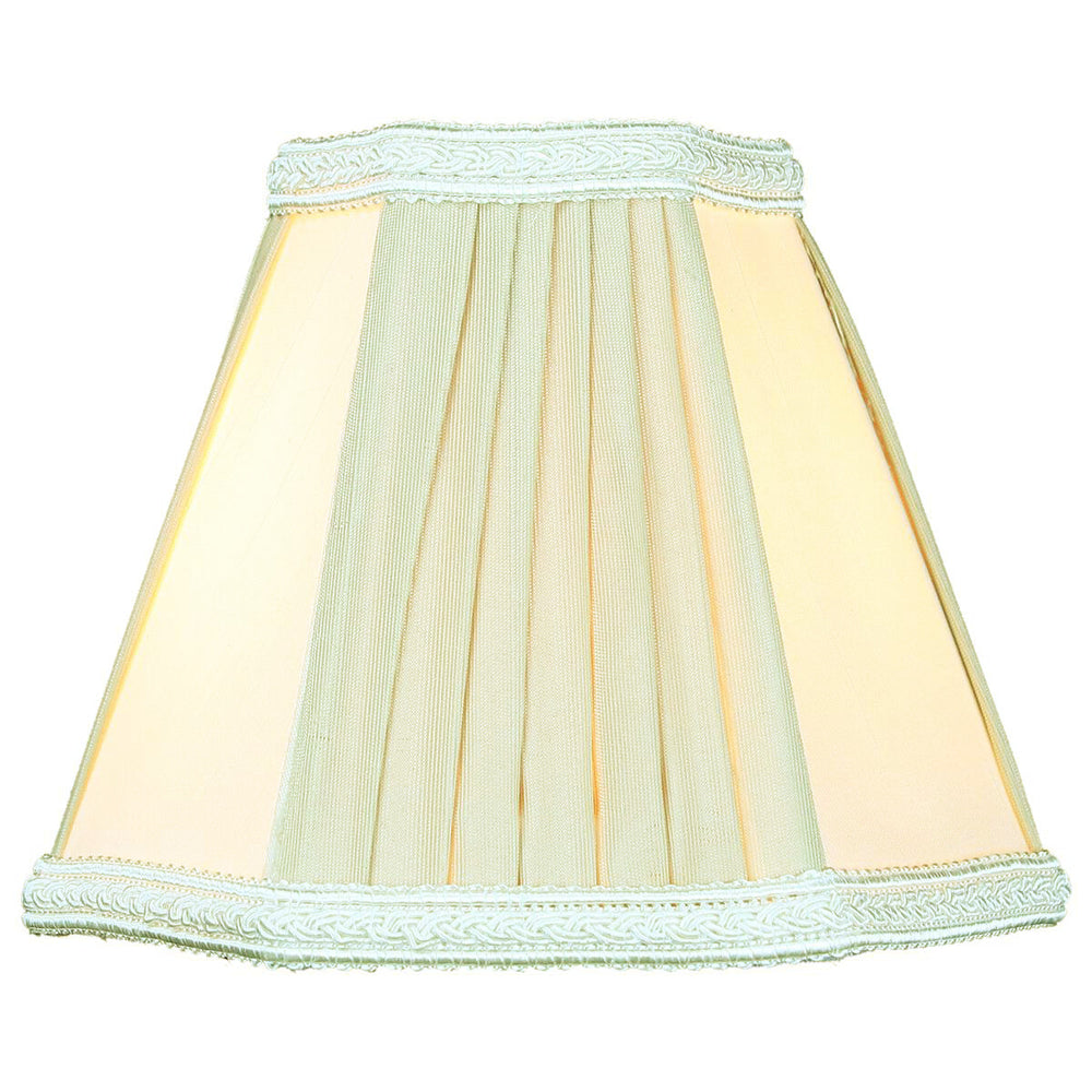 "5""W x 5""H Egg Beige Chandelier Clip-On Lampshade"