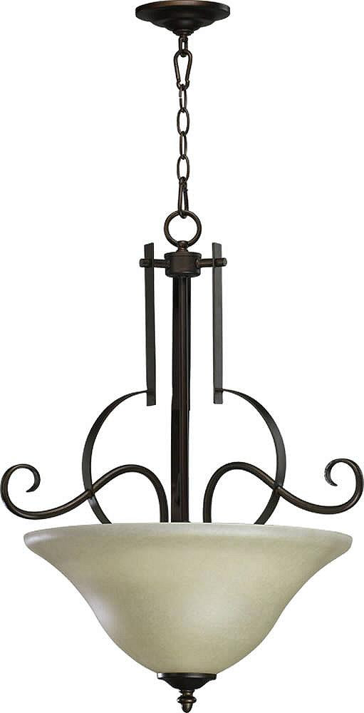 "OPEN BOX 21""w Avondale 3-Light Pendant Oiled Bronze"