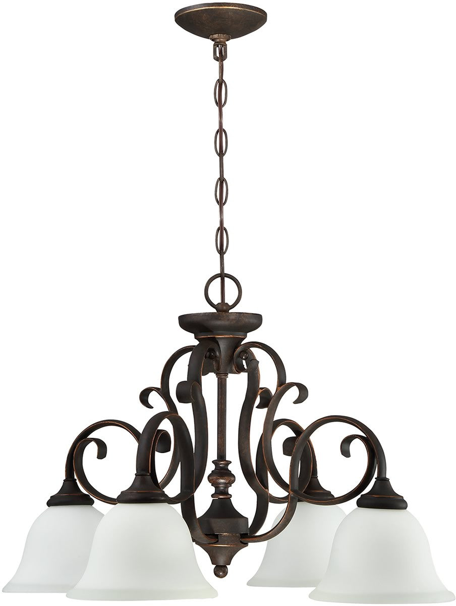 Barrett Place 4-Light Down Chandelier Mocha Bronze