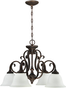 0-005020>Barrett Place 4-Light Down Chandelier Mocha Bronze