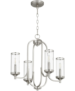 "22""W Collins 4-light Chandelier Satin Nickel"