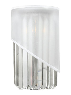 "7""W Gigi 1-Light Sconce in Polished Nickel*"
