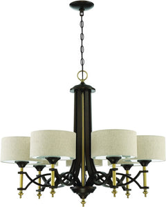 Colonial 7-Light Chandelier Antique Gold/Bronze