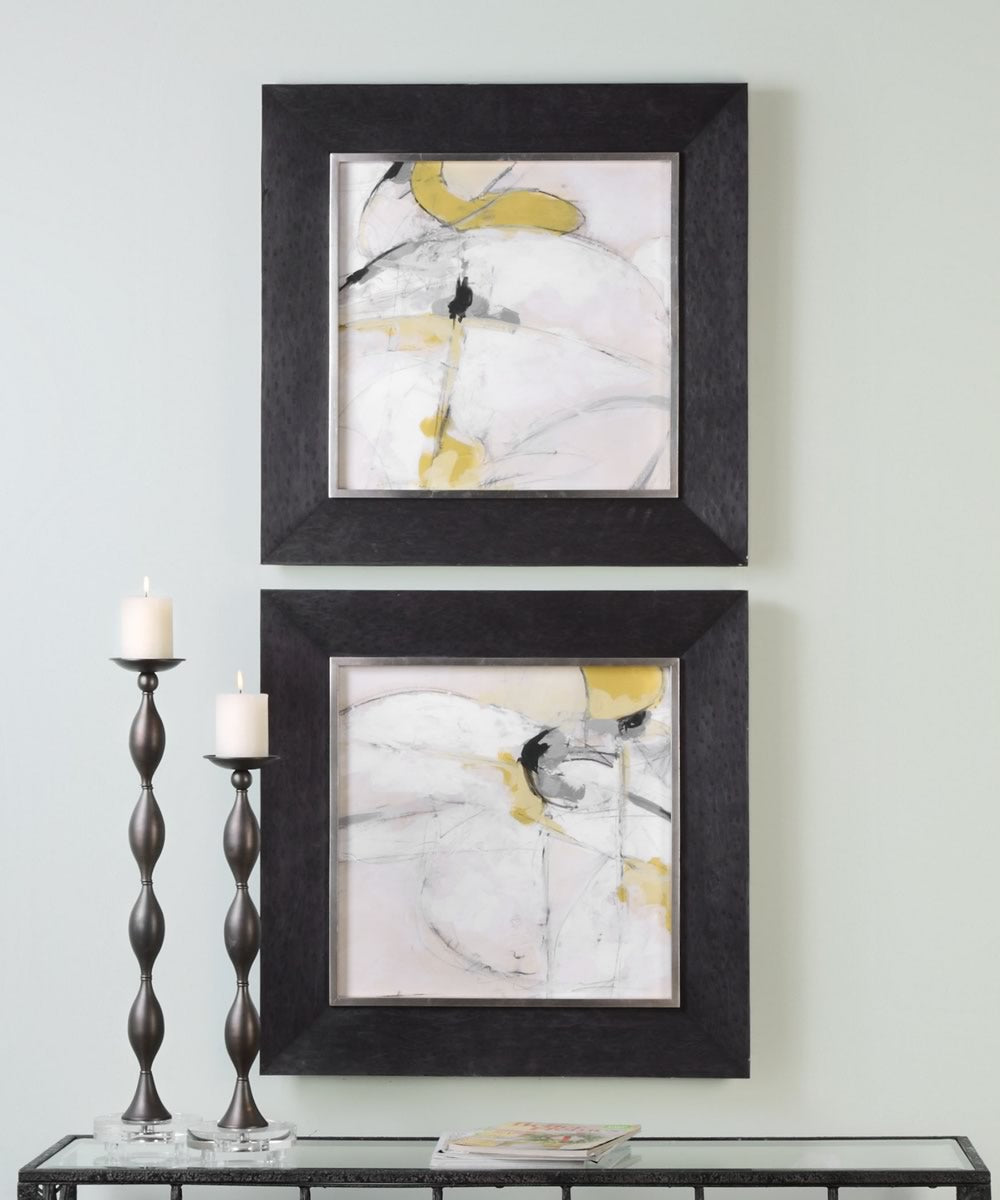 "29""H Trajectory Modern Abstract Art Set of 2"
