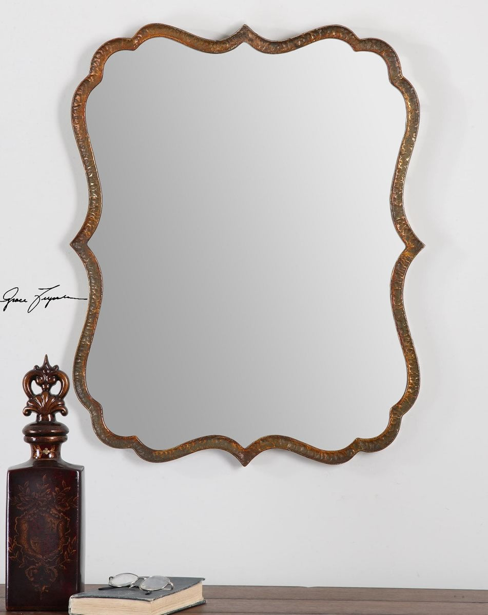 "30""H x 24""W Spadola Copper Mirror"