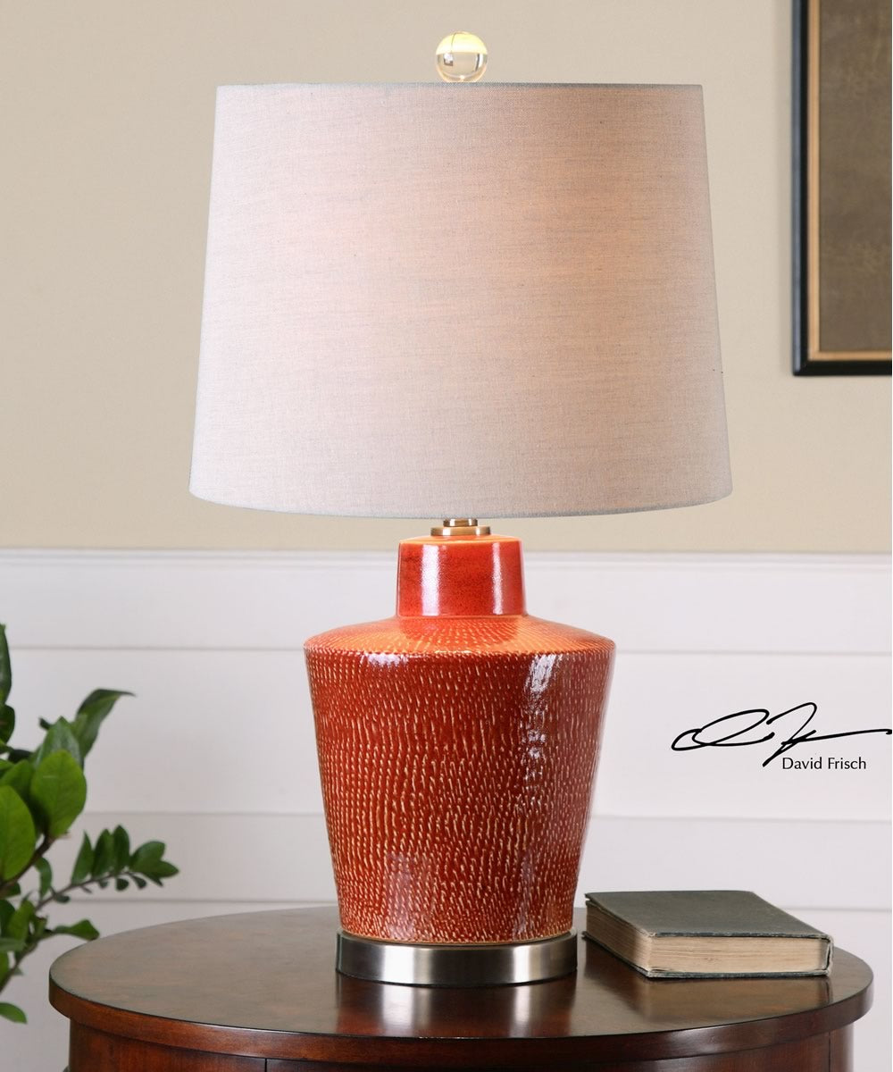 "28""H Cornell Brick Red Table Lamp"