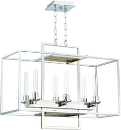 0-020980>Cubic 6-Light Chandelier Chrome