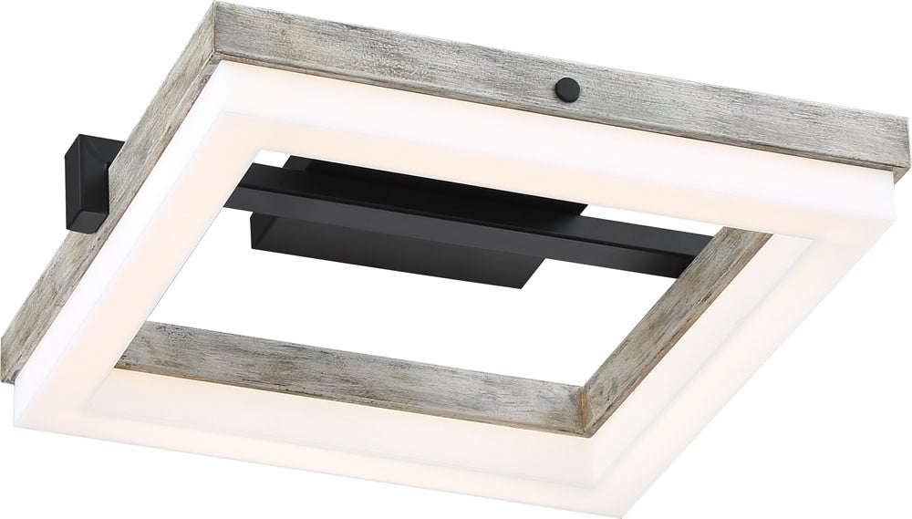 "14""W Alta 1-Light LED Black / Gray Wood"