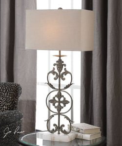 "36""H Gerosa Aged Bronze Table Lamp"