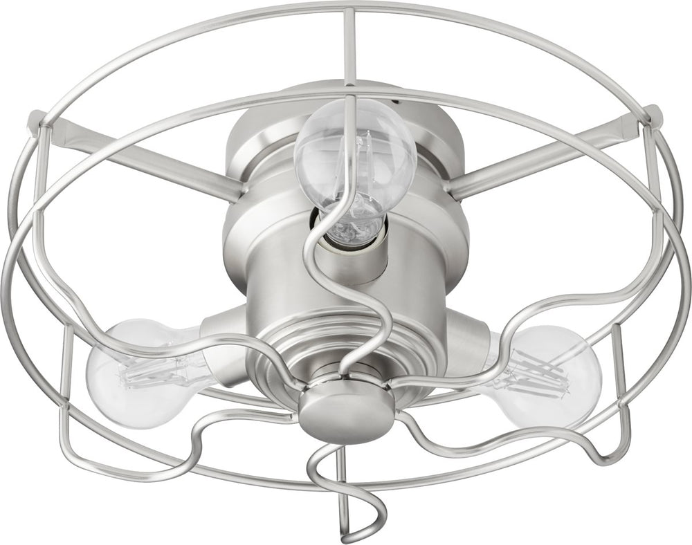 "14""W Windmill 3-light LED Ceiling Fan Light Kit Satin Nickel"