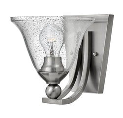 Bolla 1-Light Sconce in Brushed Nickel with Clear
