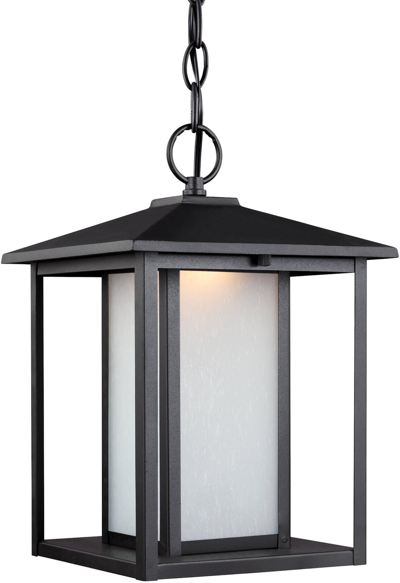 Hunnington 1-Light LED Outdoor Pendant Light Black