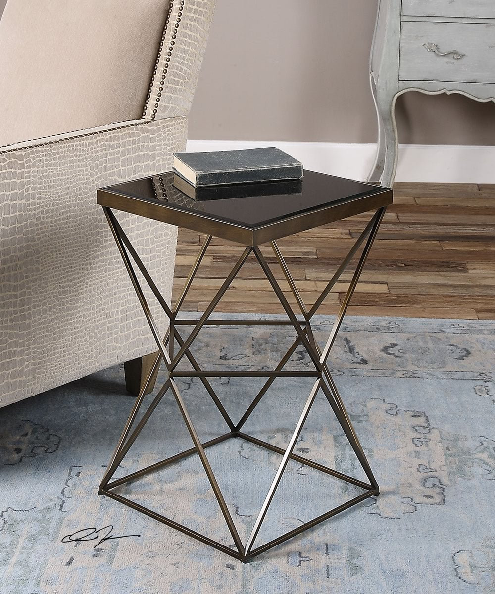 "24""H Uberto Caged Frame Accent Table"