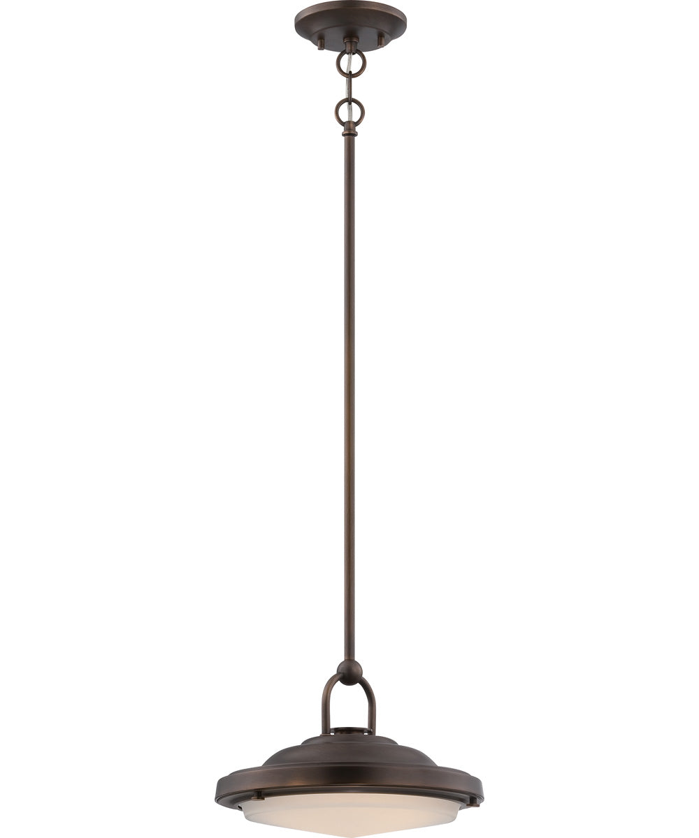 "12""W Sawyer 1-Light Pendant Antique Brass"