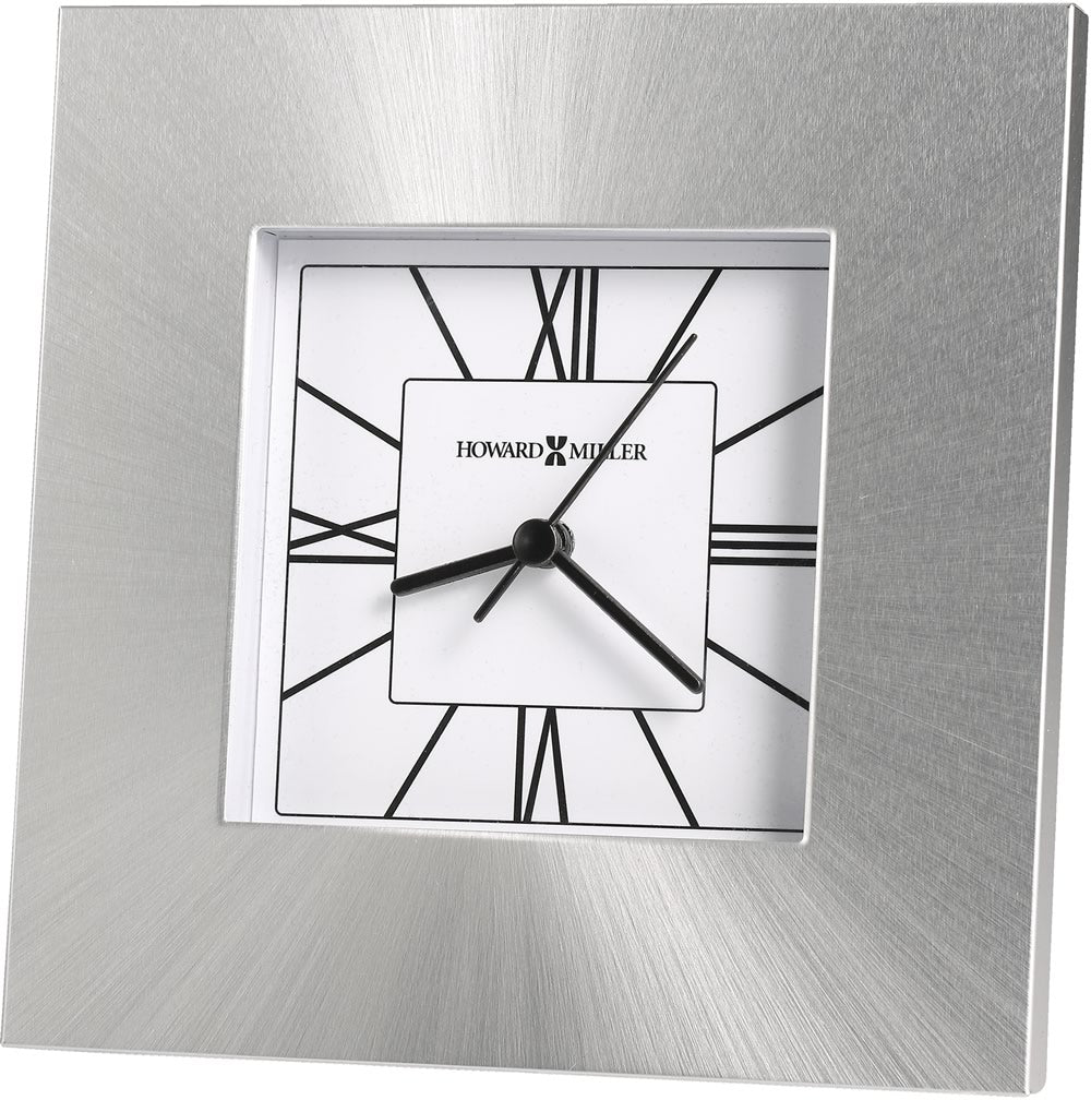 "6.25""h Kendal Tabletop Clock Silver"